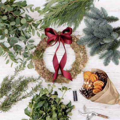 DIY wreath kits by Northumbrian Flowers