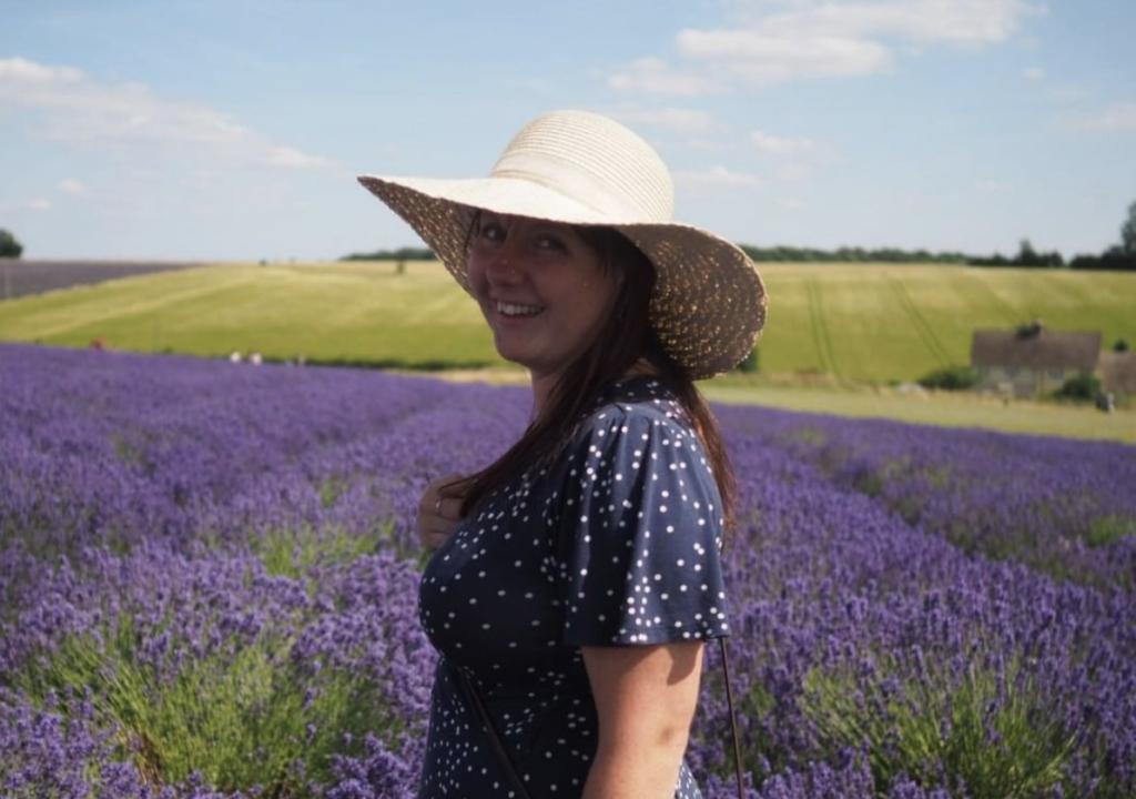 Rhiannon Clarke, Wales Co-ordinator. Blue Hill Flora