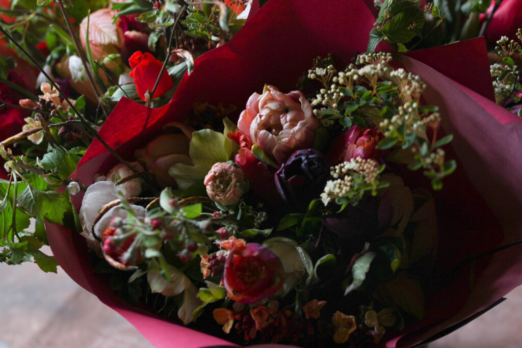 Tuckshop Flowers subscription bouquets for May awaiting delivery