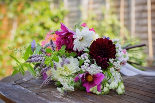 A gorgeous bouquet of British grown late summer flowers by Hart and Wild Cut Flowers