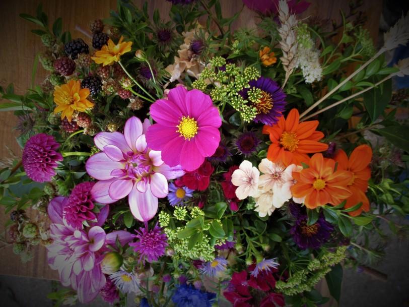 A colourful autumn bouquet